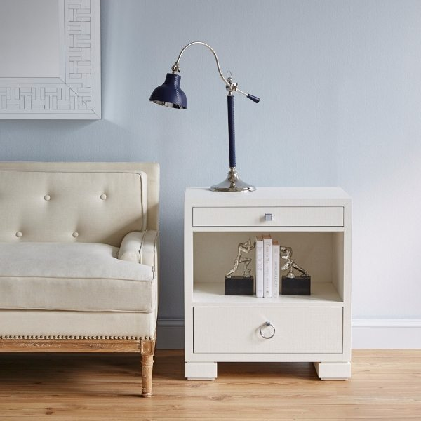 Frances 2 Drawer Side Table White By Bungalow 5 Bedside Manor Ltd