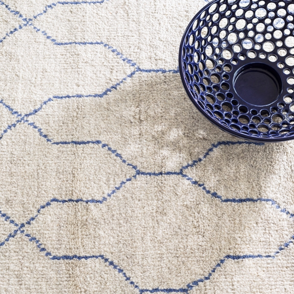 Massena Indigo Rug By Dash & Albert